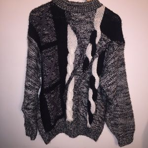 Vintage City Streets Chunky Knit Sweater | L
